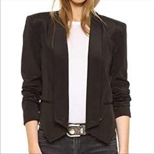 Rebecca Minkoff Becky Silk Blazer Jacket in Black
